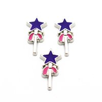 silver memory stick Canada - Hot selling 20pcs lot silver magic stick floating charms living glass memory floating lockets for diy Accessory jewelry