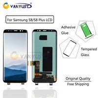 Wholesale 100 Original Super Amoled LCD Display Touch Screen Digitizer Assembly for Samsung Galaxy S8 Display G950 S8 Plus G955 lcd Replacement
