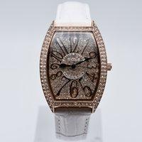 ingrosso orologio da polso di disegno della porcellana-Di alta qualità in pelle di quarzo diamante marchio di moda aaa donne di lusso orologi donne designer di design orologio all'ingrosso regali donna orologio da polso saat