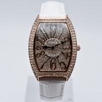 relojes de lujo aaa al por mayor-Alta calidad de cuero de cuarzo marca de moda de diamantes aaa mujeres de lujo relojes vestido de diseñador reloj al por mayor damas regalos reloj de pulsera saat