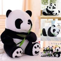 panda bear plush pelado animal venda por atacado-Bonito Em Pé PANDA URSO Bicho De Pelúcia Brinquedo Macio Do Bebê Crianças Boneca de Presente de Natal
