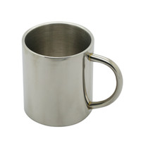 kupalar satışı toptan satış-1 adet Yeni 300 ml Paslanmaz Çelik Taşınabilir Kupa Bardak Çift Duvar Seyahat Tumbler Kahve Kupa Çay Bardağı Üst Satış