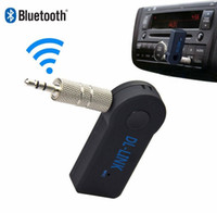 Wholesale Wireless Car Bluetooth Receiver HandsFree Music mm AUX Audio Stereo Music with Mic with Retail Packaging