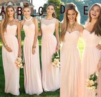 v gelinlik toptan satış-2019 Seksi V Boyun Bir Çizgi Gelinlik Modelleri Akış Şifon Yaz Gelinlik Örgün Balo Parti Elbise Ruffles Düğün Konuk törenlerinde ucuz