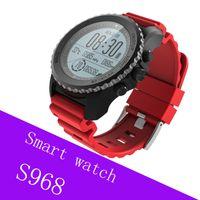 termómetros para niños al por mayor-S968 Deporte Reloj Inteligente IP68 Impermeable Reloj Monitor de Ritmo Cardíaco Barómetro Termómetro Altímetro Podómetro GPS Reloj Inteligente