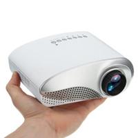mini multimedya projektörü usb toptan satış-3D Full HD 1080 P Mini Projektör LED Multimedya Sineması USB VGA Çok arayüzlü Giriş HDMI TV AV Taşınabilir Projektör