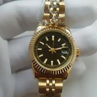 ingrosso le ragazze orologi data-26 millimetri ultra sottile donna in oro rosa diamante fiore orologi marchio di lusso infermiera abiti da donna femminile pieghevole fibbia da polso regali per le ragazze