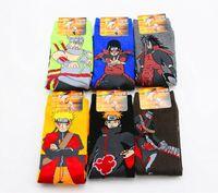 Wholesale Gray Ninja - UCHIHA LQ 2018 New Design Calze Ciclismo Estivo 1 Pair lot Calzini Ciclismo Comic Ninja Cotton Cartoon Socks