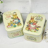 Wholesale handle candy box resale online - Cute Candy Box With Handle Happy Easter Tin Storage Boxes Durable Cartoon Resistance To Fall Organizer im B