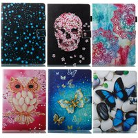 Wholesale wholesale printing ipad covers online - Leather Flip Cover for Samsung Galaxy Tab A T590 T595 T580 T585 T550 T555 T385 T380 T285 T377 T710 T810T830 Tablet PC Cases