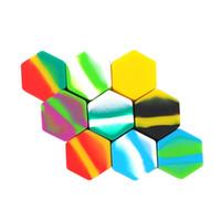 silicone grande venda por atacado-Grande 26 Ml Hexágono Recipiente Concentrado De Silicone Butano Hash Oil Silicone Recipiente 6 Pçs / lote