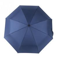 ingrosso ombrelloni aperti automatici-Antivento Unbreakable Auto Open Close Ombrello piegato in plastica Ombrello automatico Compact Sun