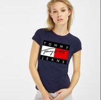 Wholesale tiger bells - 2018 Summer Designer T Shirts For woMen Tops Tiger Head Letter Print T Shirt woMens Clothing Brand Short Sleeve Tshirt Women Tops White