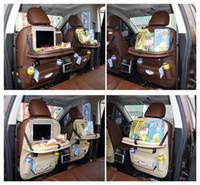 multi-car-halter großhandel-5 Farben Neue Auto Auto Sitz Organizer Halter Multi-Pocket Reise Aufbewahrungstasche Kleiderbügel Rücksitz Organizing Box