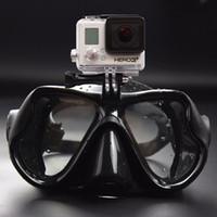 dalış sporu kamerası toptan satış-Sıcak satış Profesyonel Sualtı Kamera Dalış GoPro Xiaomi SJCAM Spor Kamera için Tüplü Şnorkel Yüzme Goggles Maske