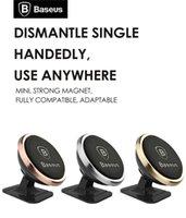 смартфон gps mount оптовых-оригинальный Baseus Универсальный магнитный 360 градусов вращения телефона автомобильный держатель Магнит держатель для iPhone Samsung смартфон GPS