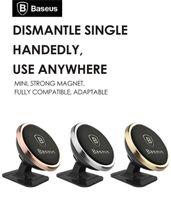 smartphone carro universal iphone venda por atacado-Original Baseus Universal Magnética 360 Graus de Rotação Do Telefone Titular Suporte para Carro Ímã de montagem Titular Para iPhone Samsung SmartPhone GPS