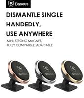 mıknatıs dönüşümü toptan satış-Orijinal Baseus Evrensel Manyetik 360 Derece Rotasyon Telefon Araç Tutucu Mıknatıs iPhone Samsung SmartPhone GPS Için dağı Tutucu