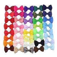 ingrosso piccola bowtie-41pcs piccolo 2.5inch Boutique Hairbow Clips Archi Bowtie di nastro con clip di colore del coccodrillo di corrispondenza Headwear