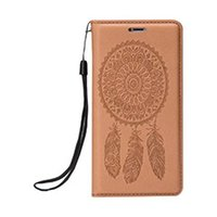 Hot Selling iPhone X Mobile Phone Holster iPhone8 Self-priming Embossing Fengling Dreamcatcher 7 mais casos forte magnético