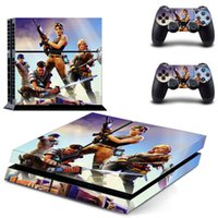 Wholesale sony playstation ps4 online - 3pcs set PS4 Fortnite Sticker For Sony PlayStation Console Skin Controller Stickers Color Fortress Night Game Controllers Protector NEW