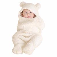 enveloppe des enfants achat en gros de-Whiter Baby Blanket Motif de Bande Dessinée En Cachemire Wrap Enveloppes Enveloppe Swaddle Nouveau-né Bébé Sac De Couchage Toddler Enfants Doux Couette