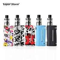 Wholesale graffiti box - Original Vapor Storm ECO Vape Mod Fashion Starter Kit Max 90W Graffiti Box Mod 18650 Battery 2ml 0.3ohm V Tank Atomizer Ecigarette