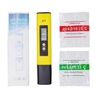 ingrosso tester ph digitali per acqua-2018 Nuovo misuratore di pH digitale a pH digitale protable Penna della precisione del tester 0,01 Acquario Piscina Acqua Vino Urina Calibrazione automatica Misura 20% di sconto