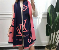 Wholesale paris pashmina scarf for sale - Luxury Paris Design V fashion style Cashmere Scarf cotton Pashmina scarfs for womens womans printing Cashmere winter Wool Scarves cm