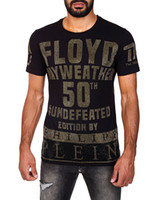 Wholesale New Arrival Shorts - 2018 New Arrivals Fashion men brand clothing Floyd Mayweather 50th victory rhinestone T-shirt male top quality 100% cotton T shirt for men