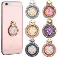 metall diamantring großhandel-Telefonhalter Diamant Bling Metallfinger-Ring-Halter 360 Grad Handy-Stand-Klammer für iphone 7 8 x xr xs Samsung adnroid Telefon