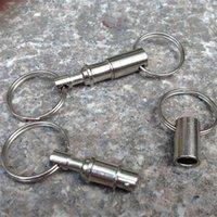çıkarılabilir anahtarlık halkası toptan satış-Çift Kafa Ayrılabilir Anahtarlık EDC Açık Aracı Tutuşunu Anahtarlık Anahtar Açık Havada Kamp Karabinalar 1 7yy X