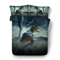 Wholesale cool queen beds resale online - 3D cool Duvet Cover Animal Dinosaur Bedding Sets Bedspreads Holiday Quilt Covers Bed Linen Pillow Covers Elk Snowman Beach Theme queen