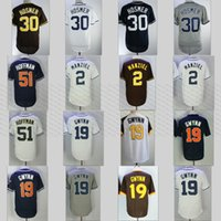 Wholesale Black Tony - Hosmer San Diego 30 Eric Hosmer Johnny Manziel 19 Tony Gwynn 51 Trevor Hoffman White Home Away Gray Road Navy Alternate Baseball Jerseys