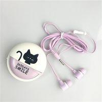 Wholesale cute earphones resale online - Cute Cartoon Earphone Mini Earbuds In Ear Noise Isolating Earphones With Mic For Iphone Samsung Android Smartphone