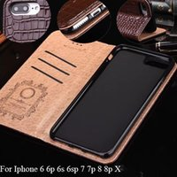 Wholesale Deluxe Leather Wallet - Wallet Phone Case for IPhone X 7 6 6S Plus Phone Cases Luxury Design Leather Full Cover Housing for iPhone8 8plus Deluxe Brand