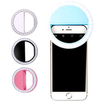 ingrosso lampada iphone-Universal Selfie LED Anello Flash Light portatile Cellulare Selfie Lamp luminoso Anello Clip per iPhone X XS Mas 8 Plus Samausng Huawei