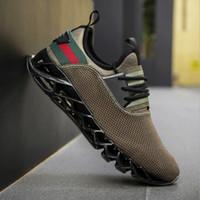 продажа плетеной обуви оптовых-Горячие продажи мужские лезвия дизайнер кроссовки большой размер мода тенденция Повседневная обувь мужчины летающие ткачество дышащая спортивная обувь (7-13) Бесплатная доставка