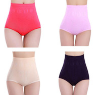 Wholesale womens control underwear - Ladies Underwear Woman Panties Lot Underwear Sexy Womens High Waist Tummy Control Body Shaper Briefs Slimming Pants
