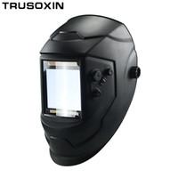 óculos de solda solar venda por atacado-Big View Eara 4 Sensor de Arc DIN5-DIN13 Solar Auto Escurecimento TIG MIG Máscara de Solda MMA / Capacete / Soldador Cap / Lente / máscara Facial / óculos de proteção