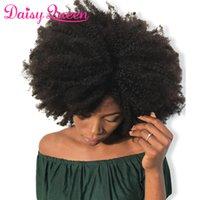32 inç sapık kıvırcık saç toptan satış-Afro Kinky Kıvırcık Brezilyalı Saç Örgü Demetleri Işlenmemiş 8A Brezilyalı Bakire Kıvırcık Insan Saç Demetleri Anlaşma Remy Saç Uzantıları Toptan