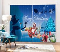 чёрный дед мороз оптовых-Christmas Santa Claus 3D Blackout Curtains Healthy non-pollution Digital Print Customiz Design Tablecloth Shower Curtain Bedding