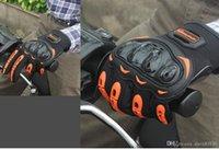 guantes de moto verdes al por mayor-Riding Tribe Touch Screen Moto Gloves Respirable Durable Anticollison Bike Racing Guantes antideslizantes Summer Green MCS-17