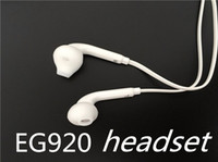 Wholesale Genuine EG920 Earphones Note3 Headsets Wired with Microphone for Galaxy S6 s7 s7edge S8 s9 s9 Mobile Phones