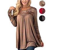 en iyi artı boyutu giysiler toptan satış-2018 Sequins patchwork Kadın T-shirt artı boyutu rahat Kazak Hoodies O-Boyun Uzun Kollu Üstleri Giysi Tişörtü T-Shirt Elbise en iyi