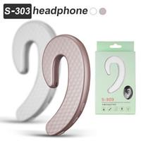 Wholesale wireless earplug headphones for sale - Group buy S303 Bluetooth Headphones Mini Wireless Earphone Earhook Headset No Earplug Painless Handsfree Sport Earphones with Mic in Retail Box