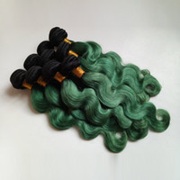 Wholesale colors for ombre hair for sale - Group buy Brazilian European Virgin human Hair Weft Sexy Ombre inch Two Tone B green for Beauty Elegant Lady Indian Remy Hair Extensions DHgate