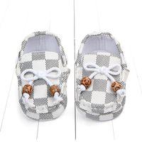 calçados casual para crianças venda por atacado-Nova moda da manta Bebés Meninos Meninas Crianças Primeiros Walkers infantil Criança considerável de esportes clássico Anti-derrapante macio Sole Shoes Sneakers Prewalker
