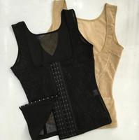corsés de plástico al por mayor-Cintura Cuerpo talla grande abdomen soporte pecho camisa de plástico Overbust Bustiers corte Brocade corset A867