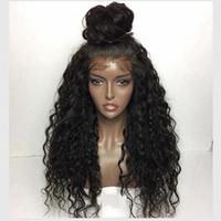 Wholesale Human Lacefront Wigs - Malaysian Curly Wigs 7A Grade Malaysian Virgin Human Hair Glueless Kinky Curly Lace Front Wig Lacefront Wig For Black Women